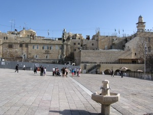 Scene of ethnic cleansing, the Western Wall Plaza