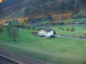 Photography wasn't easy in the light conditions - this will have to suffice for views from the Gothard railway.