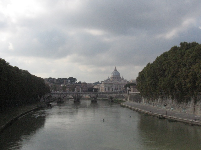 The Tiber and Pete's church