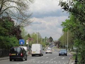 The main road through Ickenham