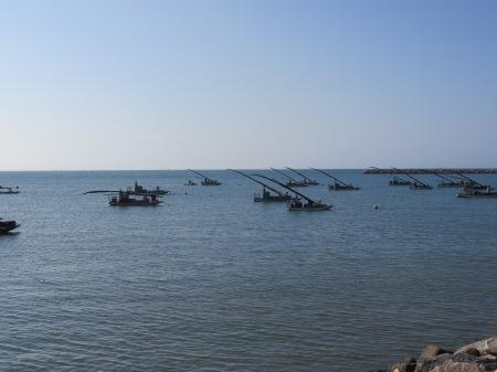 jangada boats, Pirambú