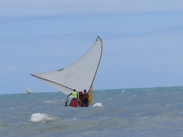 jangada on the sea