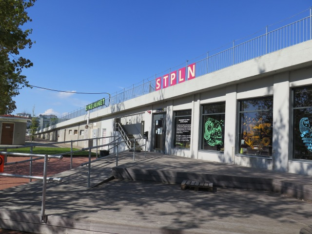 STPLN and Cycle Kitchen in the former slipway building in the Western Harbour.