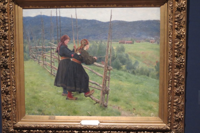 Late c19th Norwegian hyper-realism: Girls of Telemark